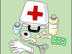 dibujos del contenido de un botiquín de primeros auxilios