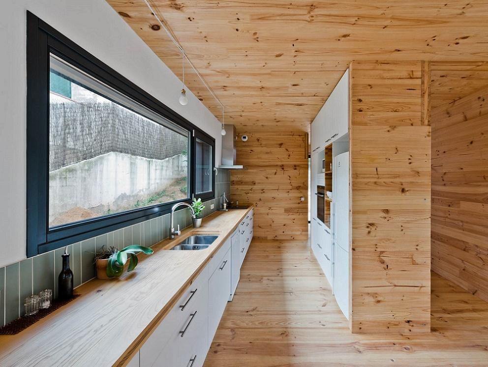 Aislamiento térmico en una casa pasiva.