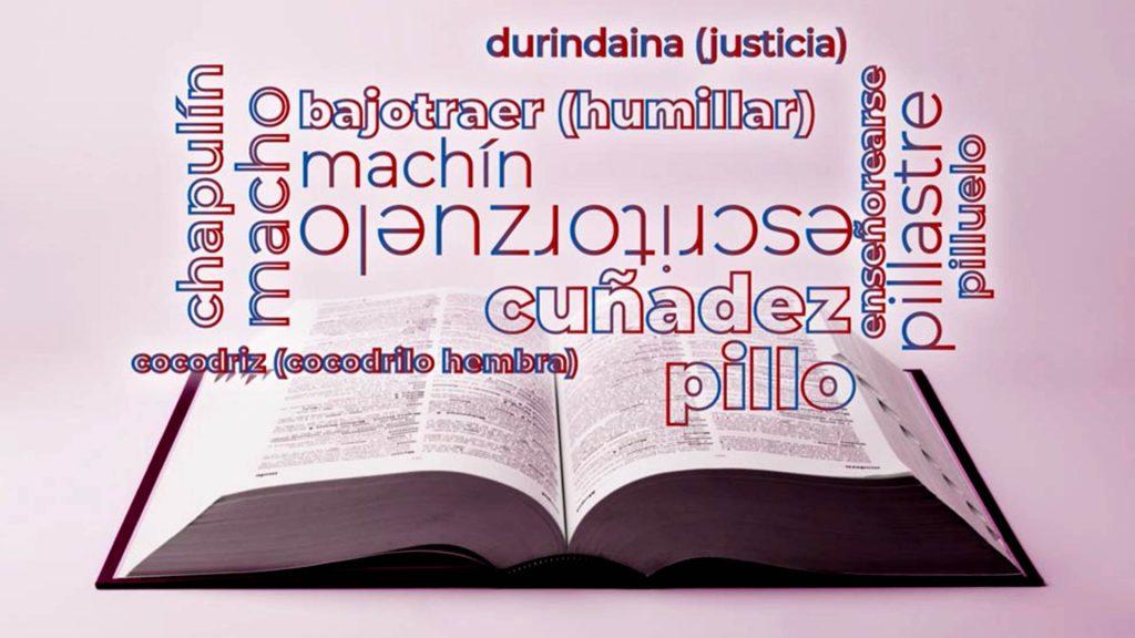 Diccionario y diferentes palabras