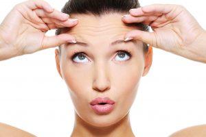 Chica con botox en la cara
