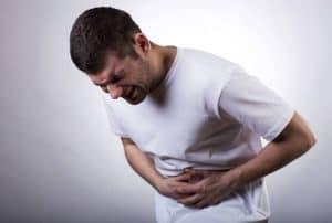 Hombre con diarrea