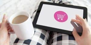 Comprando en línea desde tablet